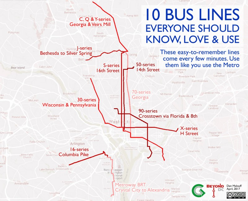 Ten Bus Lines Around Washington Dc Everyone Should Know How To Ride