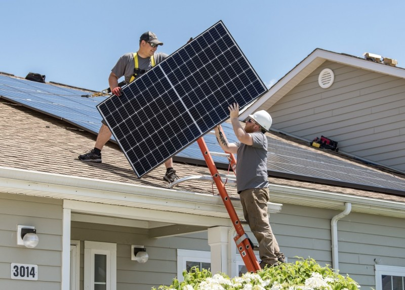 solar panel in roof