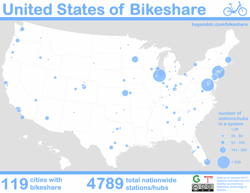 map of us bikeshare systems image by the author