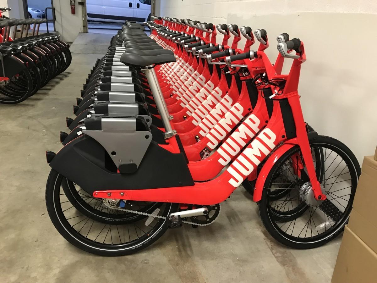 "It's not a bike, it's a bike-shaped Uber that says ""JUMP"