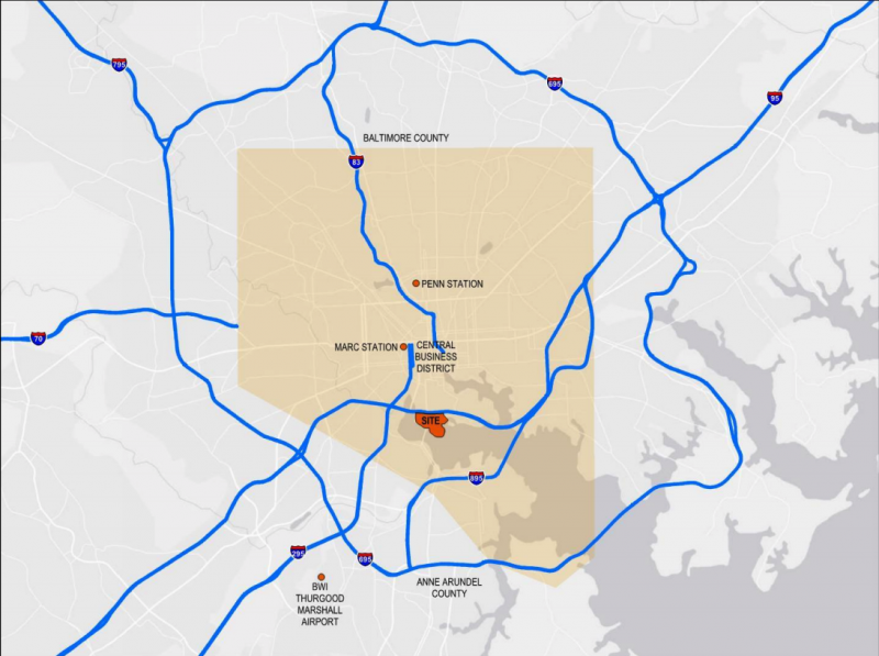 Under Armour Campus Map.Under Armour Wants To Extend Baltimore S Light Rail To A New Campus