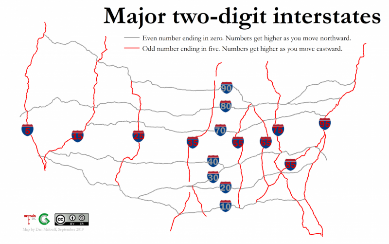 Decode the interstates: What highway numbers actually mean ...