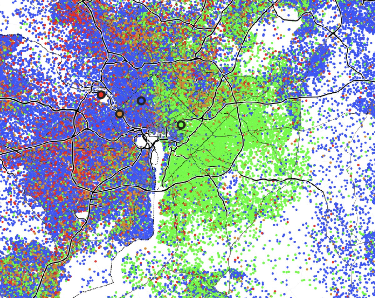 These maps show how racial demographics have changed in the ... on educational map, dns map, personality map, nutrient map, climate map, pictorial maps, reversed map, crime map, population density map, dasymetric map, topological map, person with map, choropleth map, city map, competitive map, flow map, social map, geologic map, anthropological map, topographic map, nautical chart, us house of representatives map, t and o map, world map, structural map, historic map, aeronautical chart, racial map, population north carolina county map, urban rail and metro maps, florida state capital map, economic map,