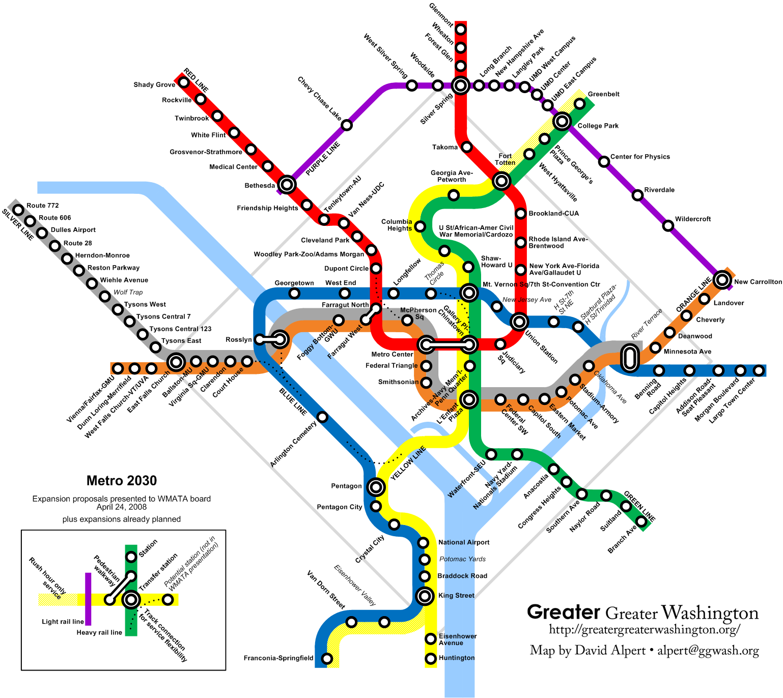 What WMATA Is Really Suggesting  Greater Greater Washington - Washington dc map subway