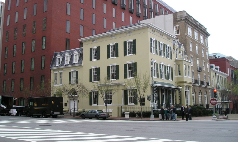 Then Left Circa 1920 The Cosmos Club It Moved To Lafayette Square In 1882 Eventually Occupied Tayloe And Dolley Madison Houses On