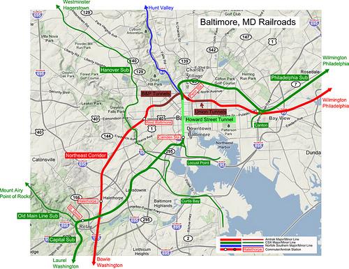 Washingtons Rails Part The Network Greater Greater Washington - Csx railroad map