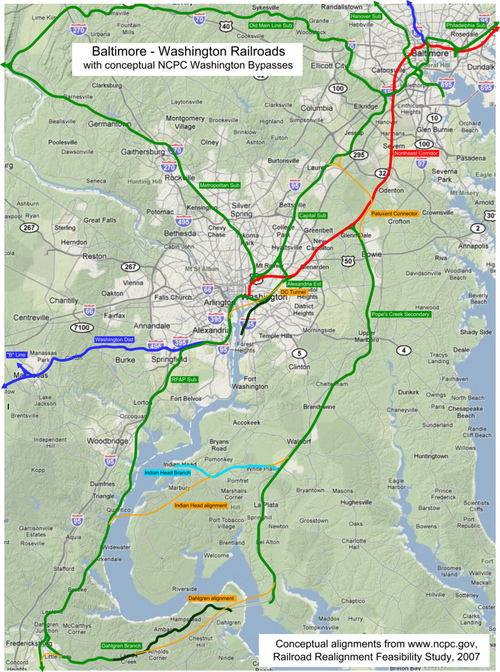 Washingtons rails part 4 the long way round Greater Greater