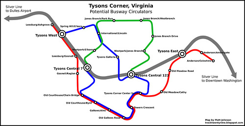 tysons corner metro map The Last Mile In Tysons Corner Part 2 Busways Greater Greater