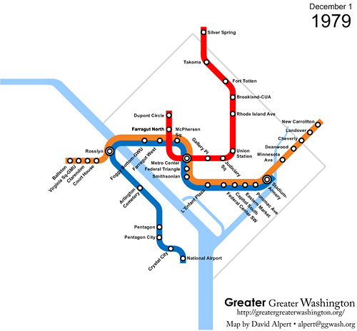 The Evolution Of Metrorail 1976 2010 Greater Greater Washington