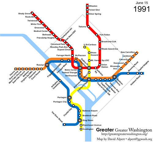 50 Court Street On Subway Map.The Evolution Of Metrorail 1976 2010 Greater Greater Washington