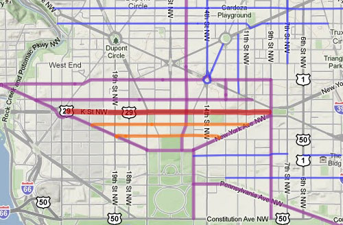 DDOT moves planned I Street cycle track to M Street Greater