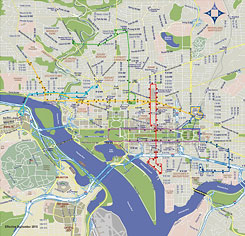 Dc Subway Map With Streets.Combine The Circulator And Metro Maps For Visitors Greater Greater