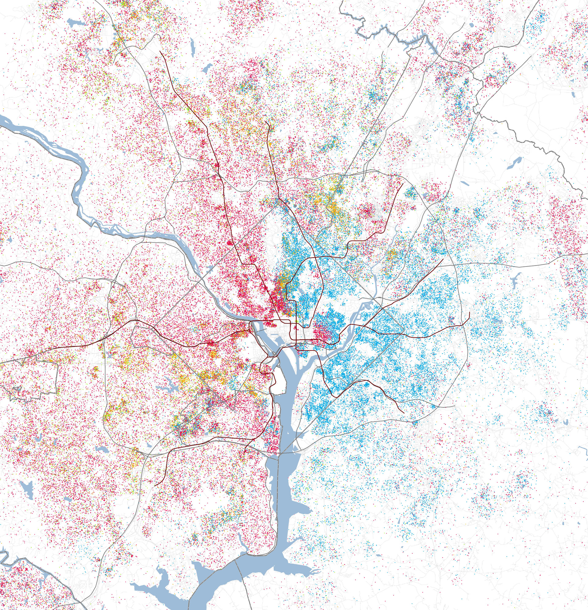 Maps Show Racial Divides In Greater Washington  Greater Greater - Washington dc gis map