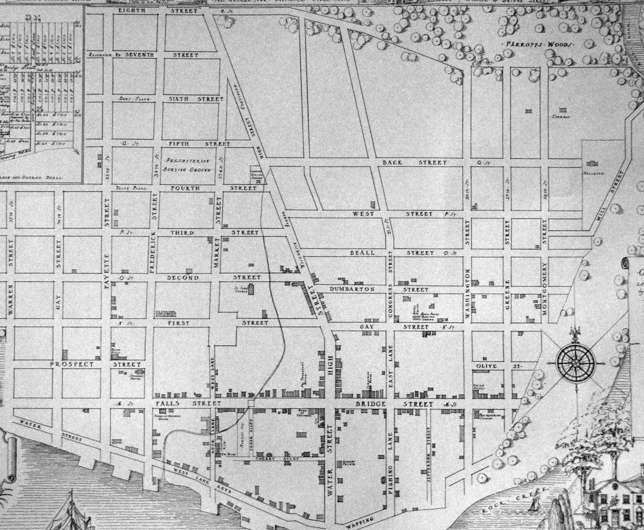 The Story Behind Georgetowns Street Grid  Greater Greater Washington - Washington dc map layout