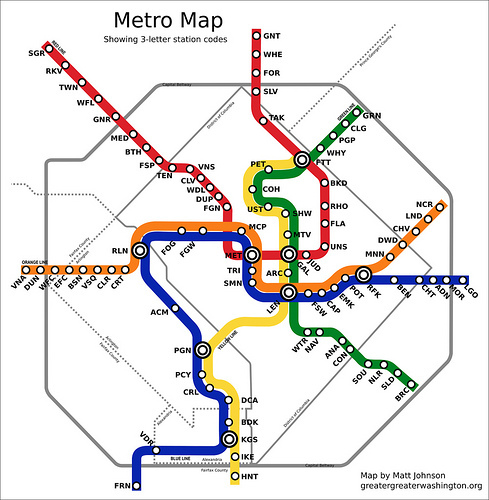 Shorten your commute tweets with Metro station codes Greater