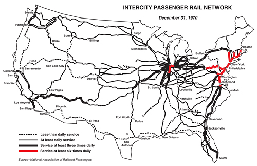 The Evolution Of Amtrak Greater Greater Washington - Us railroad map 2015