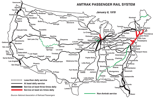 Amtrak Nc Map.The Evolution Of Amtrak 1971 2011 Greater Greater Washington