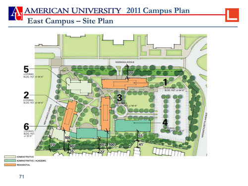 AUs Campus Plan Offers Mediocre Architecture Greater Greater - American university map
