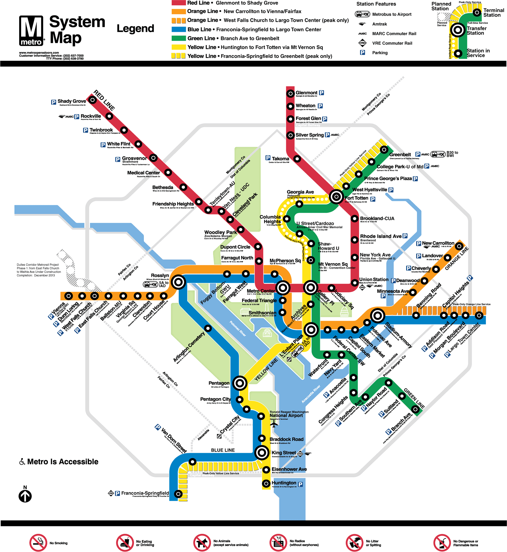 Dc Metro Maps New Metro map changes little but improves much – Greater Greater