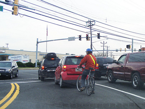 Bicyclist Hero, Rhode Island Ave & Route 1, Beltsville, Md.