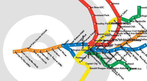 Travel Time Map Distorts Metro Temporally Greater Greater Washington