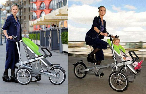 Bike/bus and bike/stroller merge bicycling and kids' travel ...