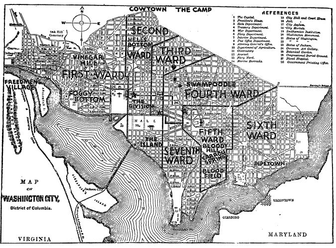 Meet me down in Pipetown: DC's neighborhoods in 1877