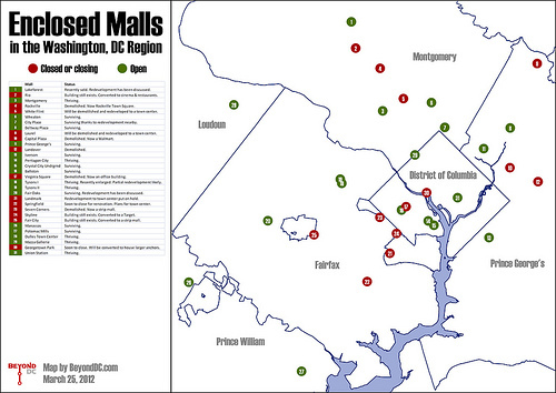 enclosed malls fade from washington region greater greater
