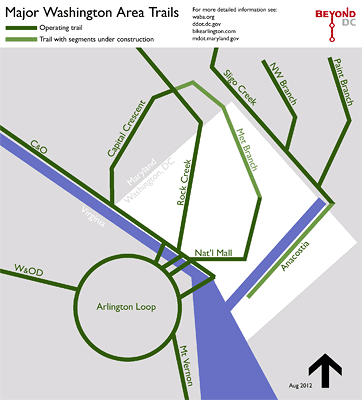 on dc bike map