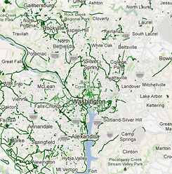 Map of bike highways in the DC region  Greater Greater Washington