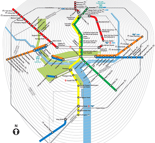 Petworth Dc Map.Map Of The Week Personalized Metro Travel Time Map Greater