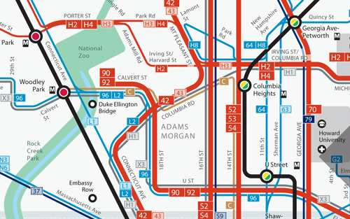 WMATA makes new diagrammatic bus maps Greater Greater Washington