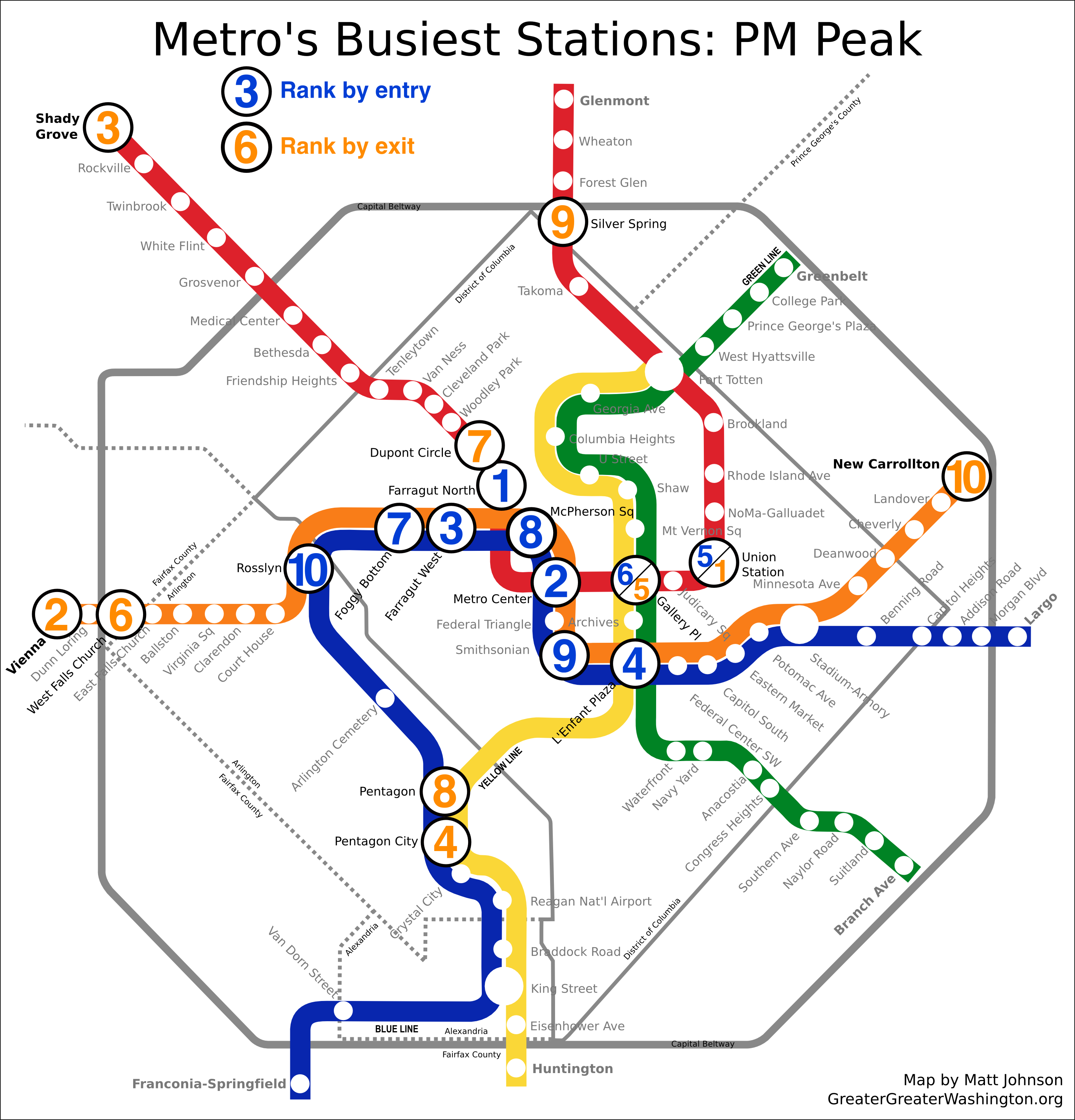 Which Metro stations are busiest – Greater Greater Washington