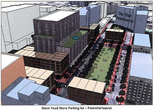 Giant Food Parking Lot - Potential