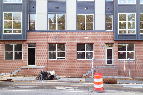 """Real doors"""" give human scale to large apartment buildings – Greater ..."""