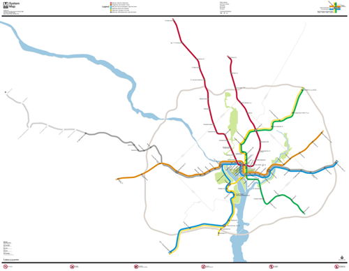 What if the new Metro map were to scale? – Greater Greater ...