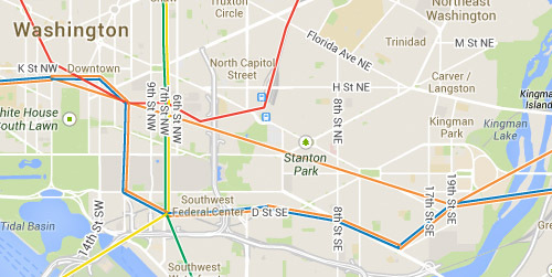 Google Maps now shows Metro lines, and 1 that doesn't exist