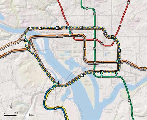 Metro maps out loop line between DC and Arlington – Greater
