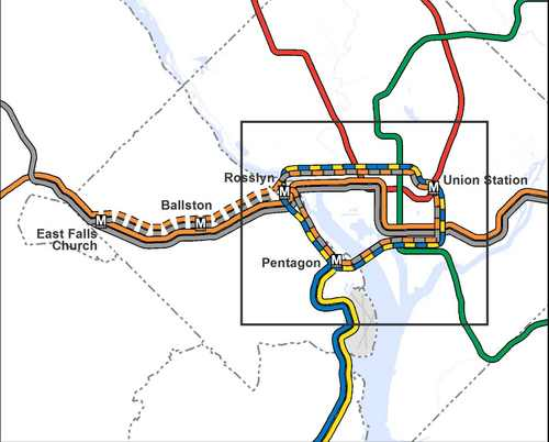 Post 911 Subway Map.Metro Maps Out Loop Line Between Dc And Arlington Greater Greater