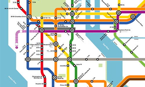 Subway Map New York Manhatten.What If The Nyc Subway Map Looked Like The Dc Metro S Greater