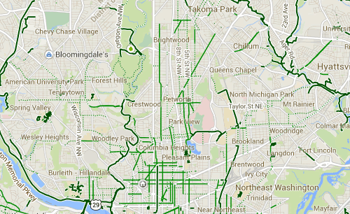 DC has too few dedicated east west bike pathways – Greater Greater