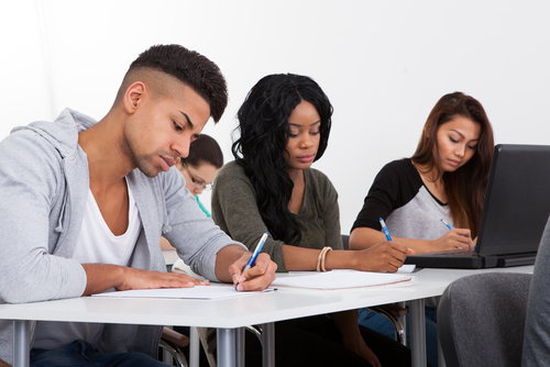 Photo Of Students Writing From Shutterstock.