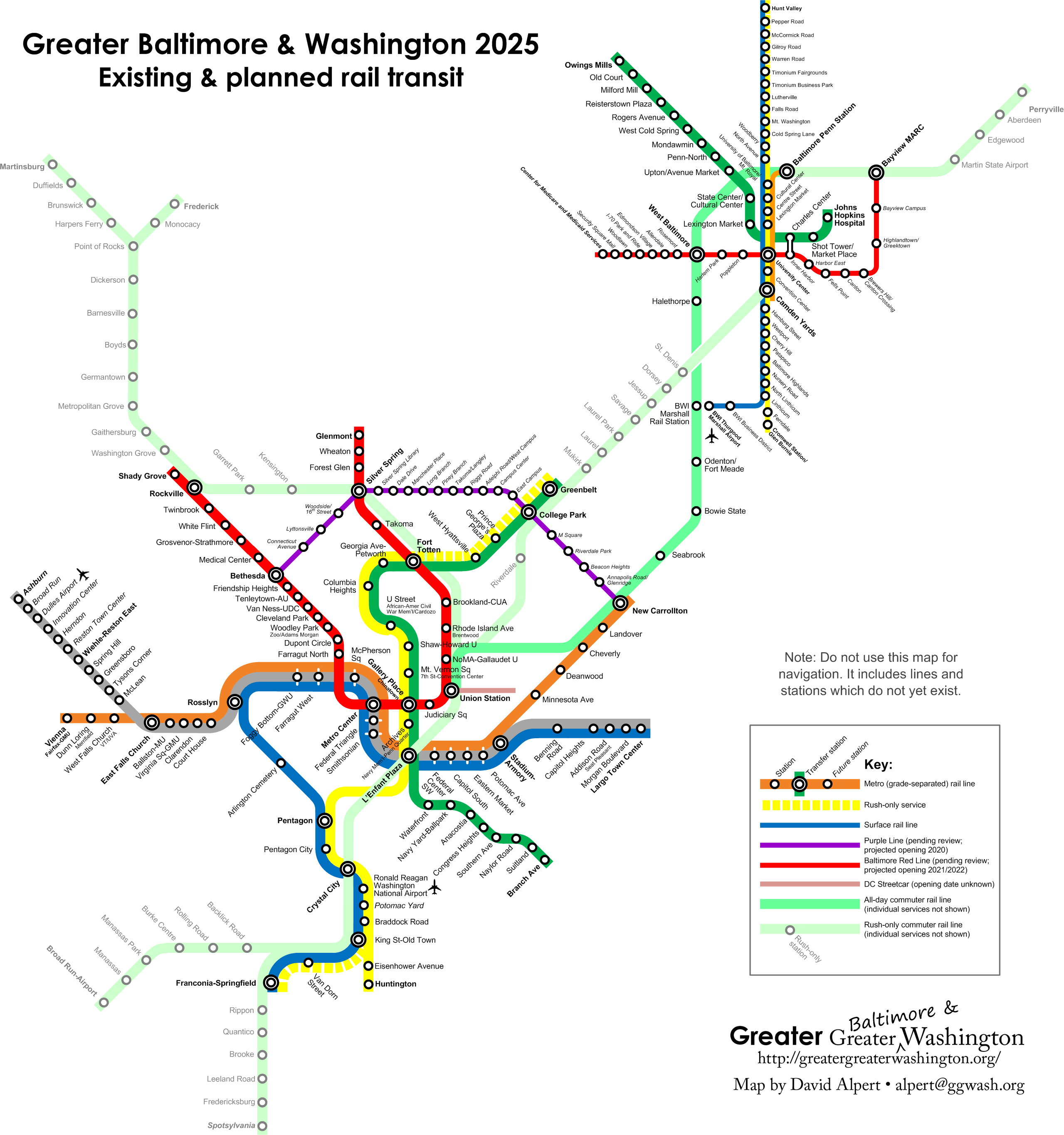 Your transit map could look like this if Maryland builds the Red and ...