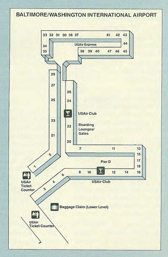 Check Out These Historic Airline Maps Of Washington S Airports