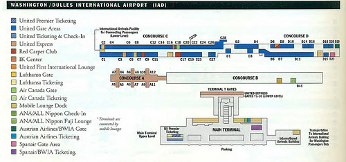 Check out these historic airline maps of Washington's airports ... on