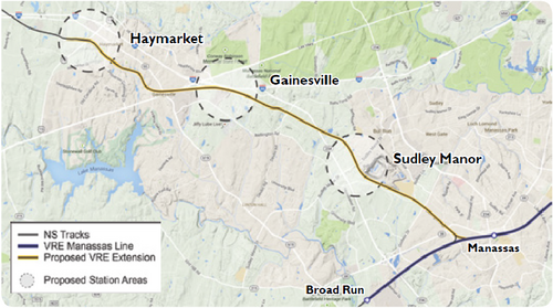 Map Of The Proposed Extension And Station Locations Image From Vre