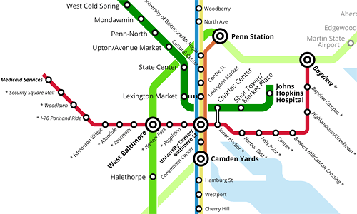 Redline Metro Map Los Angeles.The Baltimore Red Line Does Need A Tunnel Despite Its Cost