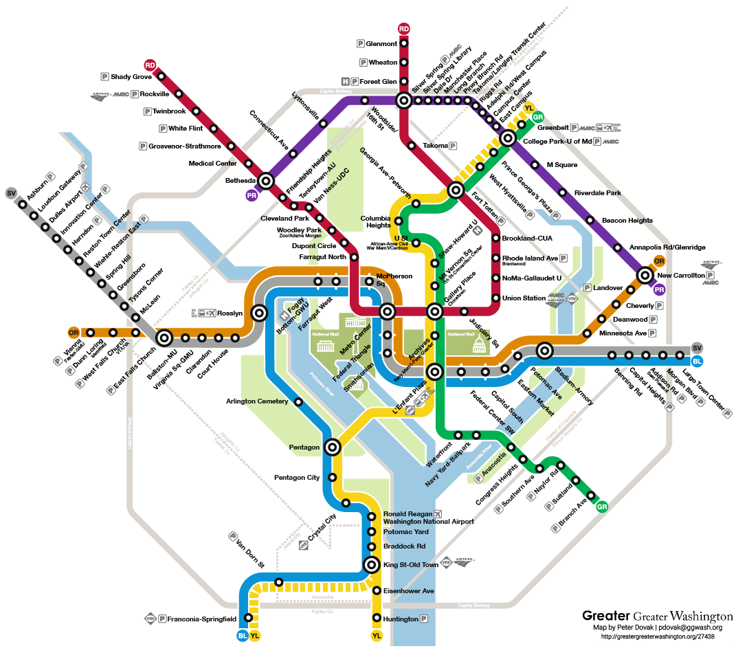 Dc Subway Map With Streets.Will The Purple Line Appear On The Metro Map Greater Greater