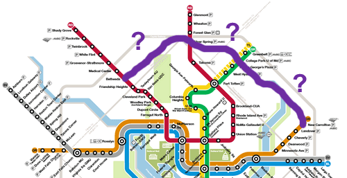 San Diego Subway Map.Will The Purple Line Appear On The Metro Map Greater Greater