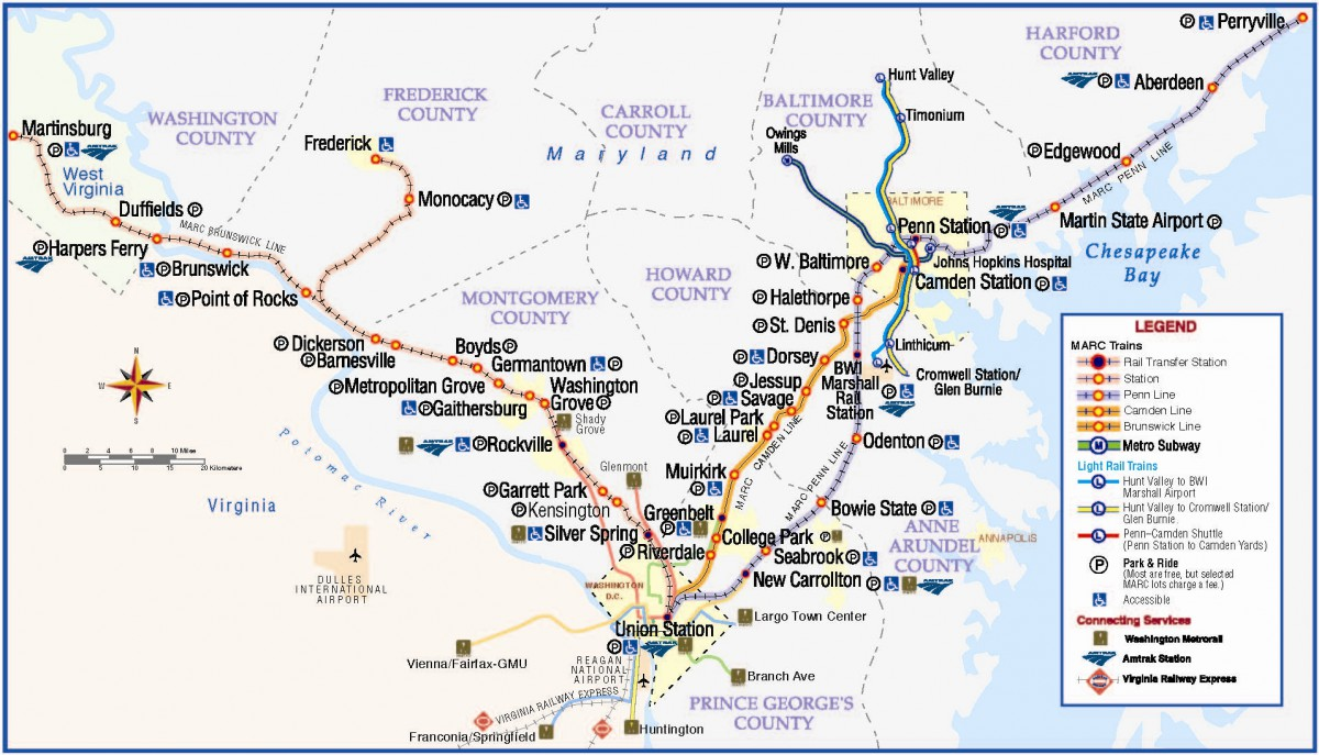 Amtrak Stations In Washington State Map.Md Va Commuter Rail Look Great Together On One Map Greater
